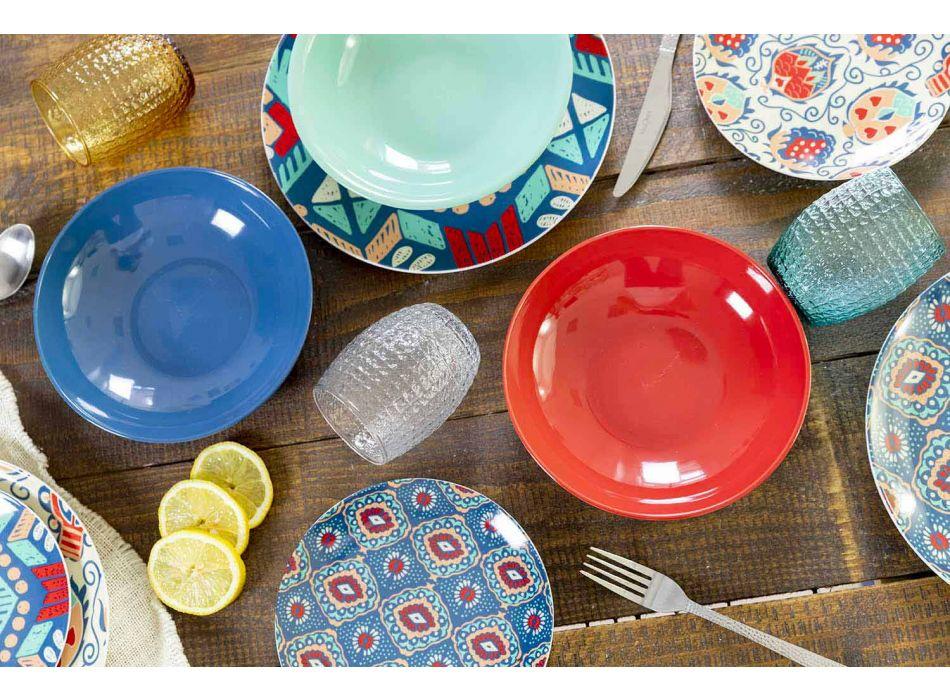 Barevné desky v porcelánu a porcelánu 18 kusů - Zambie