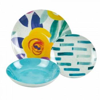 Barevné deskové stolní desky z kameniny a porcelánu 18 kusů - Tintarello