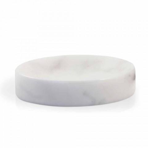 Bílá miska na mýdlo z mramoru Carrara Vyrobeno v Itálii - Sismo