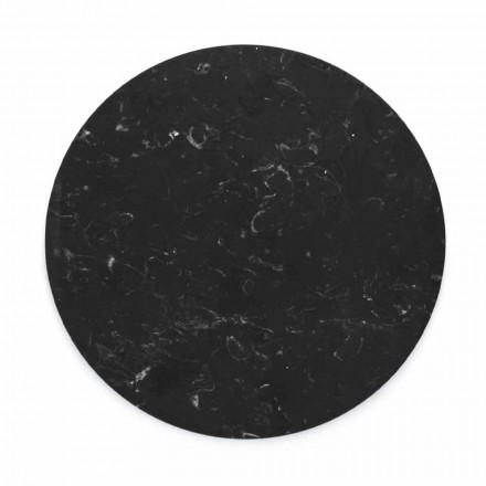 Kulatý sýrový talíř v bílém nebo černém mramoru vyrobený v Itálii - Kirby