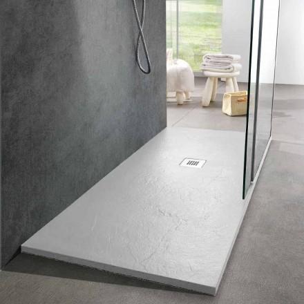 Moderní designová sprchová vanička 160x80 v provedení Resin Slate Effect - Sommo