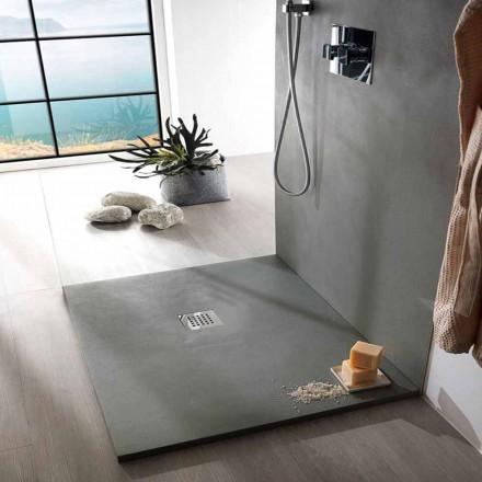 Čtvercová sprchová vanička 80x80 v pryskyřičném betonu s moderním designem - Cupio