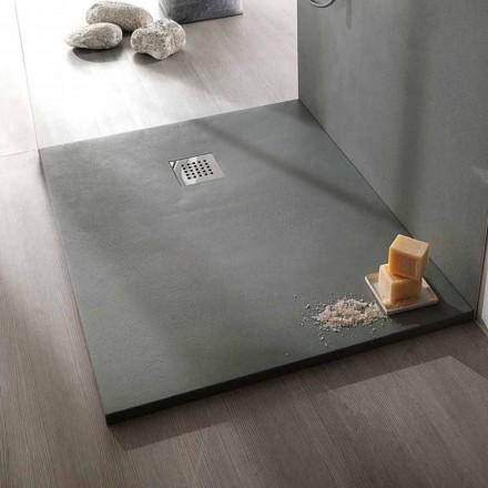 Obdélníková sprchová vanička 100 x 80 v provedení z pryskyřičného betonu - Cupio