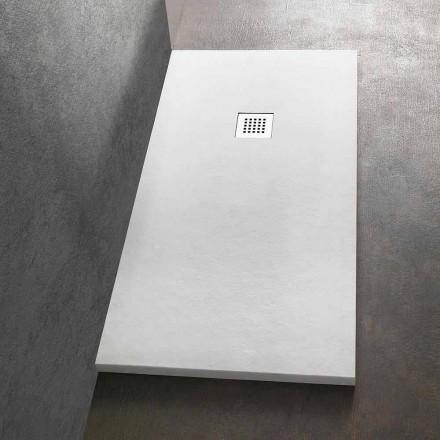 Obdélníková sprchová vanička 140 x 90 v provedení z pryskyřičného kamene - Domio