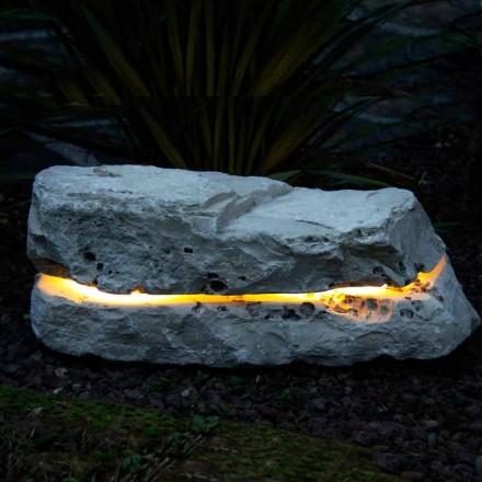 Kámen svítící se zvukem difuzorem Fior di Pesco Carnico Sound