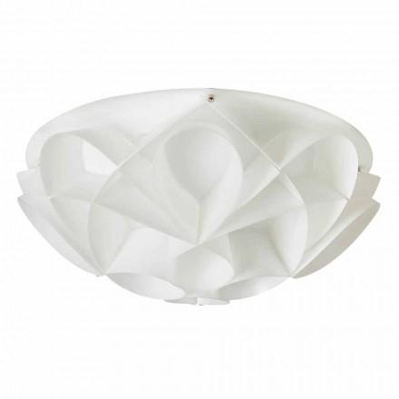 3 stropní svítidla vyrobené v Itálii bílá perla, průměr 51 cm, Lena