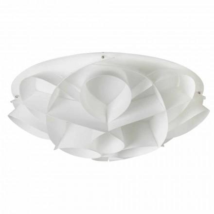 Stropní světla 4 bílé moderního designu s perleťovým prům. 70 cm, Lena