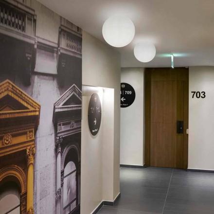 Slide Globo moderní stropní stropní svítidlo vyrobené z polyetylenu vyrobené v Itálii