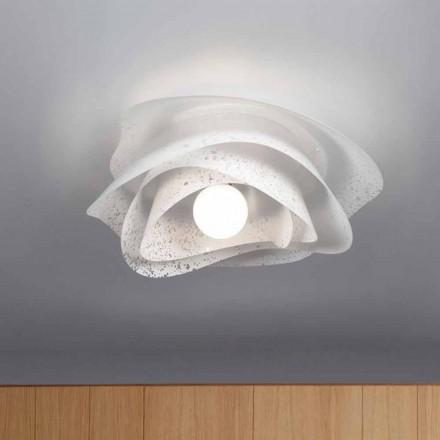 bílá moderní design 55 cm v průměru strop Antalya, made in Italy