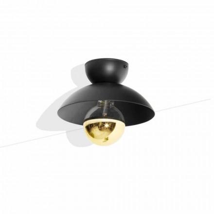 Stropní lampa s kovovým designem se zlatým povrchem vyrobená v Itálii - Valta