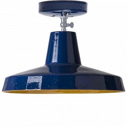 Stropní světlo v toskánské maioli a mosazi, 30cm, Rossi - Toscot