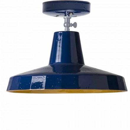 Stropní světlo v mosazi a toskánské maiole, 42cm, Rossi - Toscot