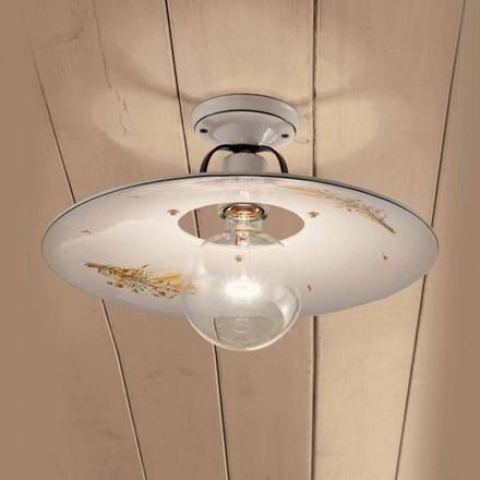 Kulaté stropní svítidlo zdobené keramické stropní Ferroluce