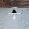 Rustikální stropní kulaté stropní svítidlo Ferroluce keramické Power