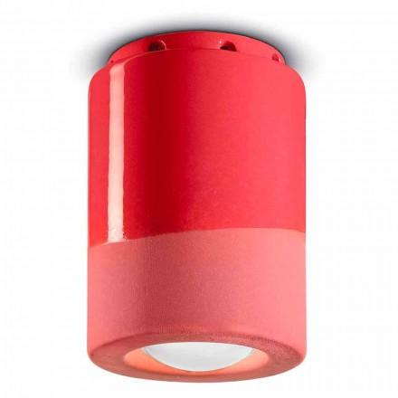 Vintage stropní lampa v keramice Vyrobeno v Itálii - Ferroluce Pi