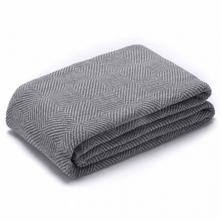 Double Plaid in Wrinkles Grey and White Linen Made in Italy - Wheat