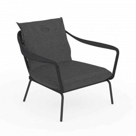 Moderní designové venkovní křeslo z hliníku a tkaniny - Cruise Alu Talenti