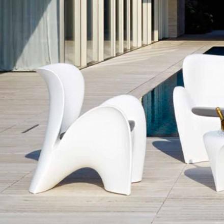 Designové venkovní nebo vnitřní křeslo z barevného plastu - Lily od Myyour