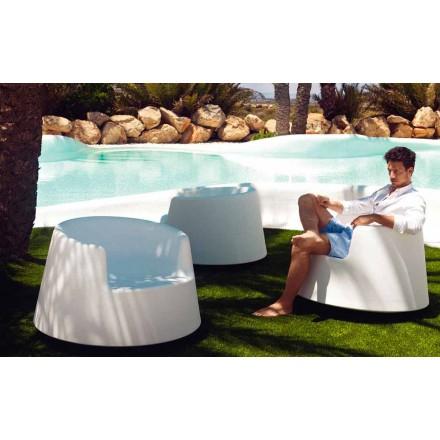 Moderní zahradní křeslo, z polyethylenu, ruleta Vondom