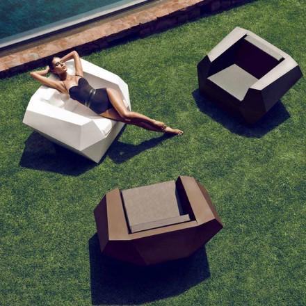 Moderní designové venkovní křeslo, z polyethylenu, Faz by Vondom