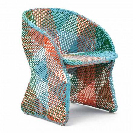 Zahradní křeslo z barevných pletených syntetických vláken - Maat od Varaschin