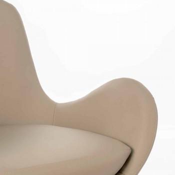 Moderní design Čalouněné křeslo v koženkovém křesle - Gajarda