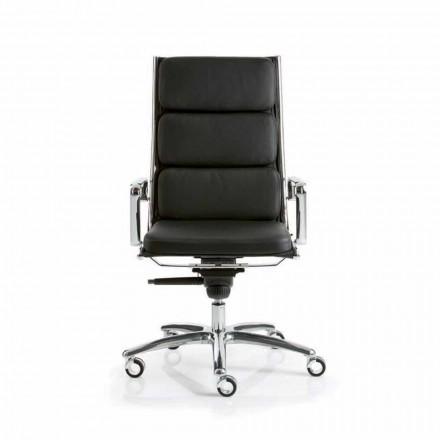 Výkonná kancelářská židle s koženým designem Light Luxy