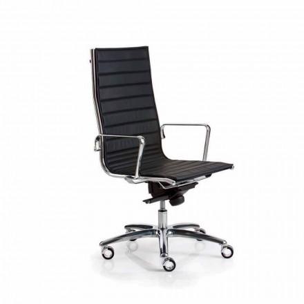 Výkonný kožené křeslo Office nebo textilie Light Luxy
