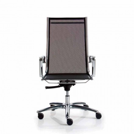 Židle výkonné kancelářské sítě, vysoká záda, Light Luxy