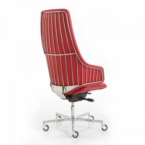 Výkonná kancelářská židle modelu by Luxy Itálii, made in Italy