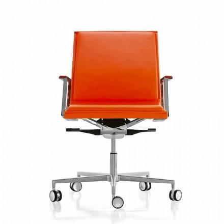 Ergonomická kancelářská židle v koženém nebo textilním Nulite Luxy
