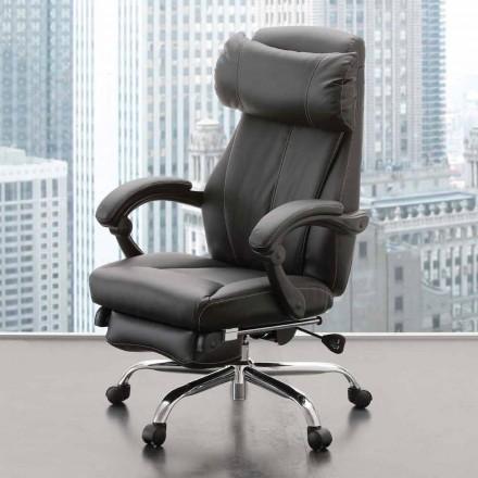 Otočné kancelářské křeslo v černé eko-kůži - Nazzareno