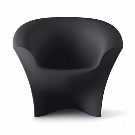 Venkovní designové křeslo z matného nebo lakovaného polyethylenu vyrobené v Itálii - Conda