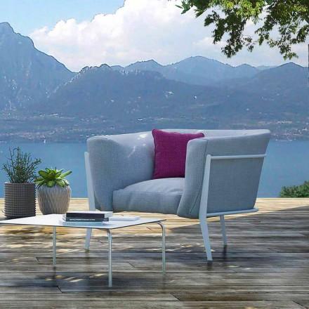 Moderní a vyrobené v Itálii Venkovní nebo vnitřní designové křeslo - Carminio1