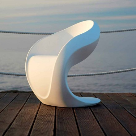 Křeslo s vnitřním nebo vnějším designem z bílého polyethylenu - Petra od Myyour