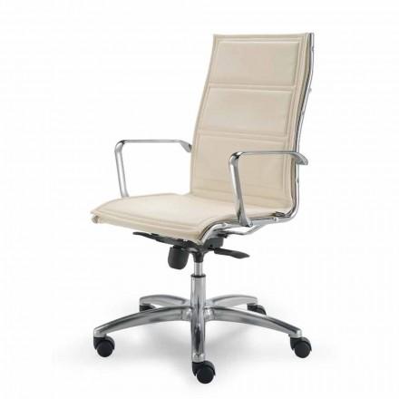 Směrová kancelářská židle cowhide květina typ Agata
