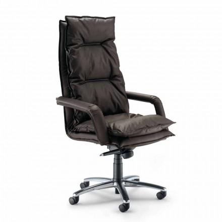 Moderní výkonný židle Office koženka Gemma