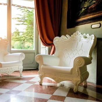 Barevné elegantní křeslo Polyethylen Slide Queen Of Love vyrobené v Itálii