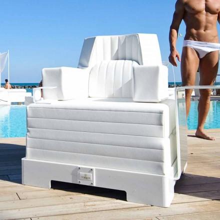 Plovoucí křeslo Trona bílém designu Luxus, made in Italy