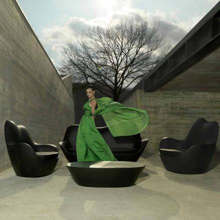 Moderní zahradní křeslo, vyrobené z polyethylenu, Sabinas by Vondom
