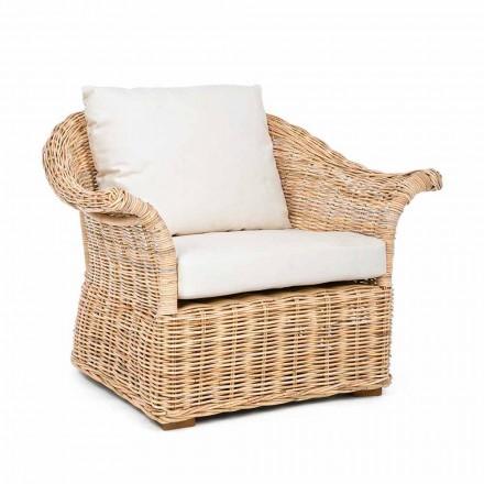 Homemotion - Fermin Ethnic Style Indoor or Indoor Rattan Armchair