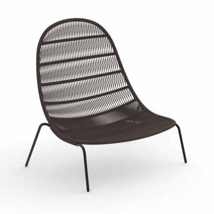 Zahradní obývací židle z hliníku a tkaniny - Panama od Talenti