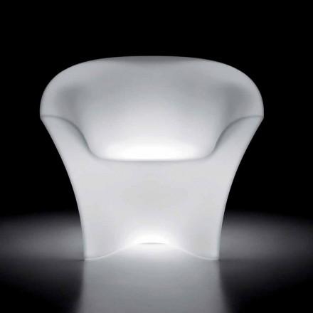 Svítící venkovní křeslo z polyethylenu s LED světlem vyrobené v Itálii - Conda