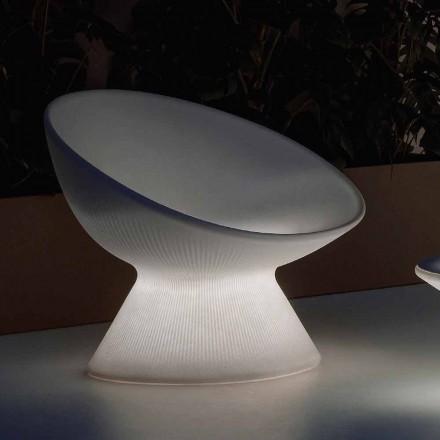 Svítící venkovní křeslo z polyethylenu s LED světlem vyrobené v Itálii - Desmond
