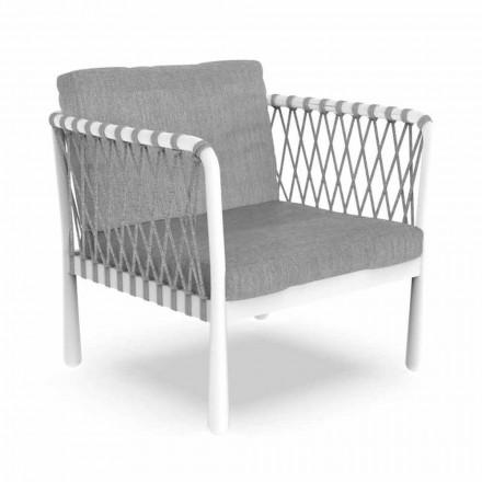Moderní venkovní křeslo z hliníku a tkaniny - Sofy od Talenti