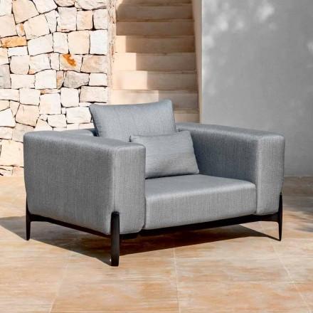 Relax Zahradní křeslo z hliníku a látky, design ve 3 provedeních - Filomena
