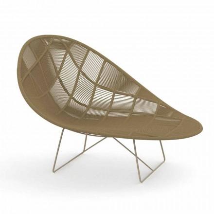 Moderní zahradní relaxační křeslo z hliníku a tkaniny - Panama od Talenti