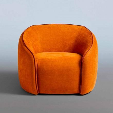 Relax křeslo moderního designu vyrobené v Itálii v barevné látce - Baloo