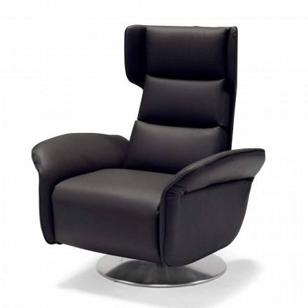 Dvoumotorové otočné relaxační křeslo Bao, moderní design vyrobený v Itálii