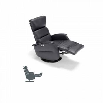 Motorizovaný otočné křeslo relaxační látka / kůže / umělé kůže Gemma